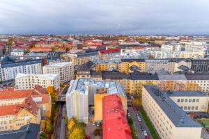 Näkymää Helsingin kattojen yltä