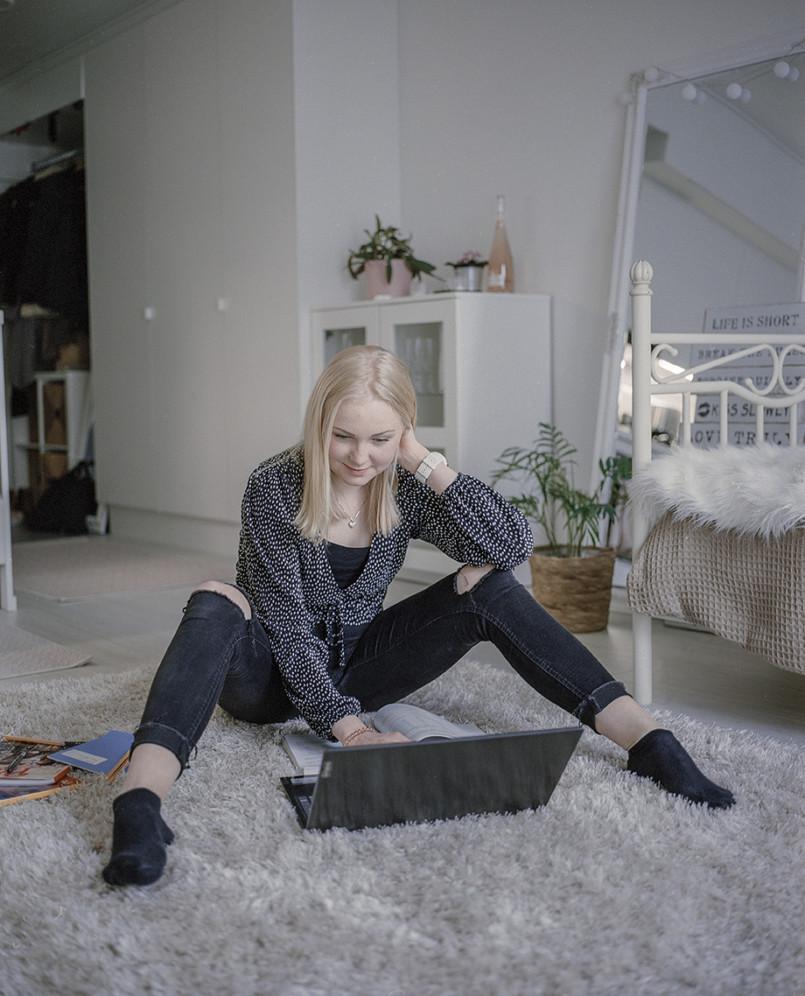 Ronja Kalenius muutti omilleen 16-vuotiaana.
